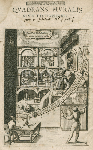 Tycho Brahe 39 S Mural Quadrant Royal Society Picture Library